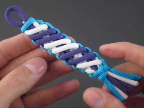 How to Make a Slant-Wrapped Endless Falls (Key Fob) by TIAT