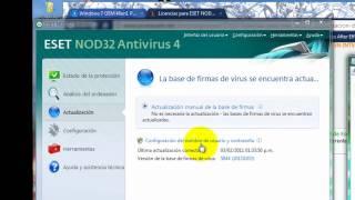 Actualizar Su Antivirus Nod32 Ala Version Completa