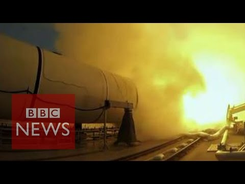 Nasa tests enormous rocket booster