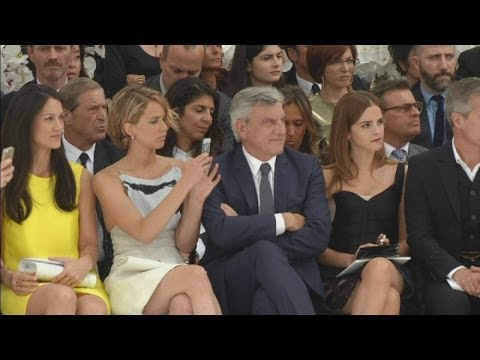 Jennifer Lawrence and Emma Watson hit Dior show at Paris Fashion Week