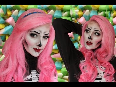 Creepy/Cute Skeleton Makeup Tutorial for Halloween
