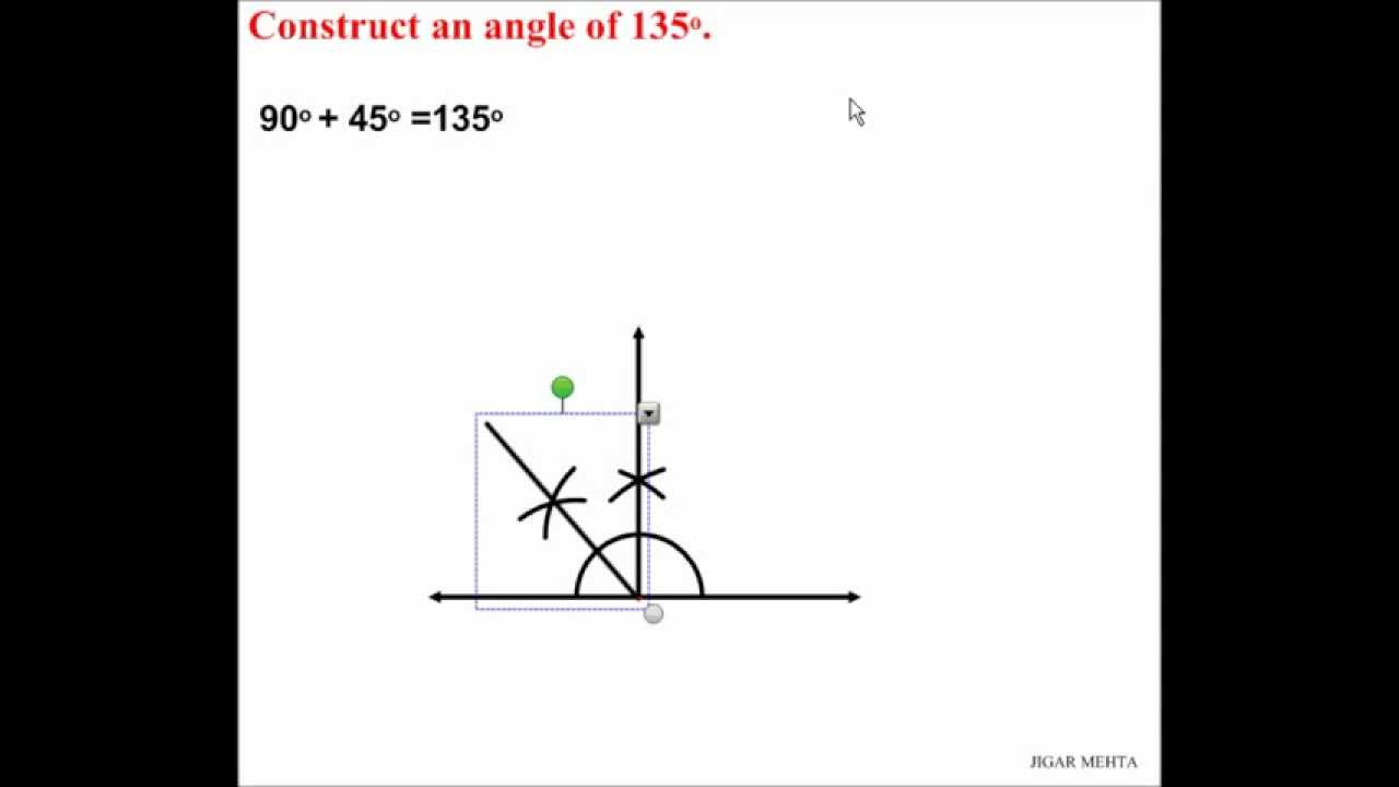 how to draw 1 degree angle