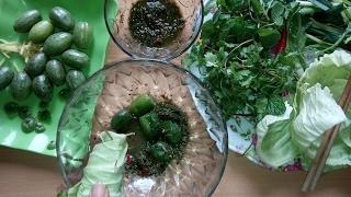 Ăn nhót xanh cuốn bắp cải kiểu Tây Bắc