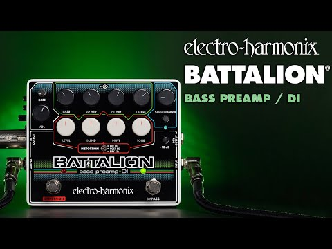 Electro Harmonix Battalion Bass Preamp & DI Effects Pedal for Bass Guitar