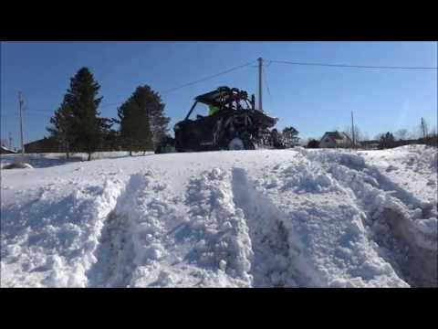 Wildcat 1000 breaking trail in the spring snow pt 3