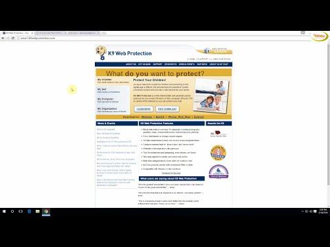 Quản lý trẻ em dùng máy tính bẳng K9 Web Protection miển phí