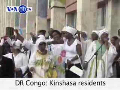 VOA60 Africa 11-06 DR Congo: Kinshasa residents celebrate army victory over M-23 rebels.