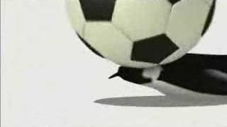 Een korte aninatie met voetballende pinguins.