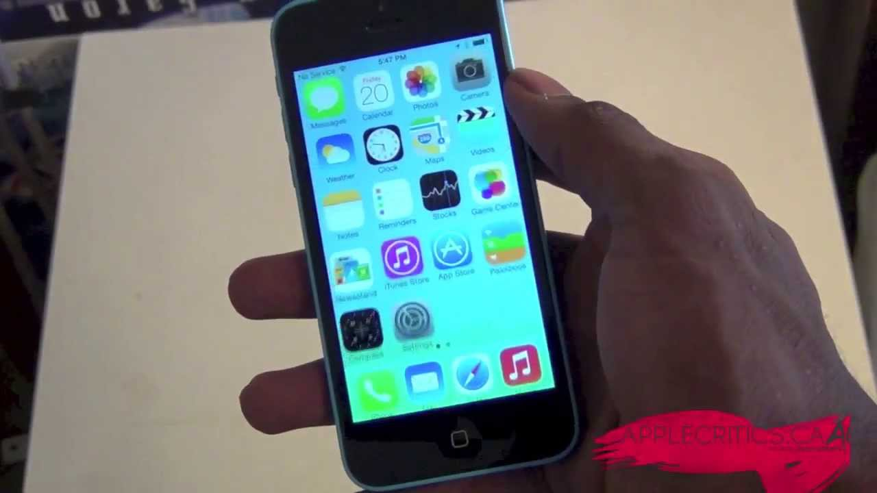 iPhone 5C Official Unboxing And Hands On- Blue 16 GB Model ...