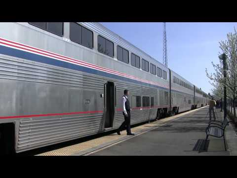 (HD)Amtrak's#116 Coast Starlight (4-4-09) to Los Angeles,CA