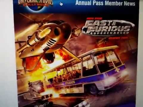 BREAKING NEWS UNIVERSAL STUDIOS HOLLYWOOD NEW ATTRACTION FAST AND FURIOUS SUPERCHARGED RIDE 4/8/2014