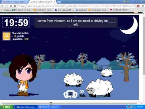 Hack ioe bài con cừu điền từ ( 1 phần trong chuỗi các video hack ioe )