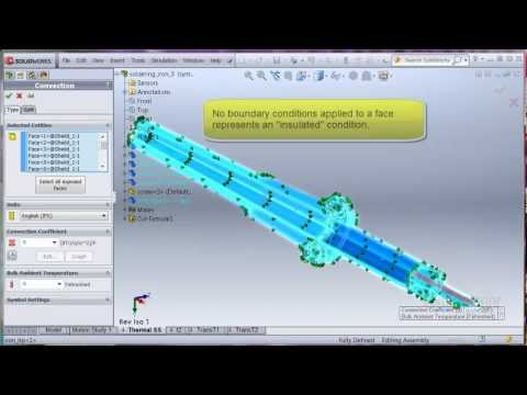 SolidWorks Simulation - Heat Transfer with Thermostat
