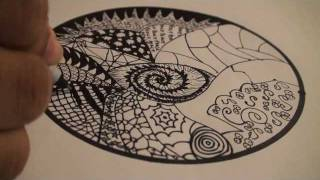 Let's Draw 001: How To Draw A Mandala With Zentangles