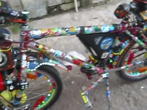 bicicleta  tuning y luces 2