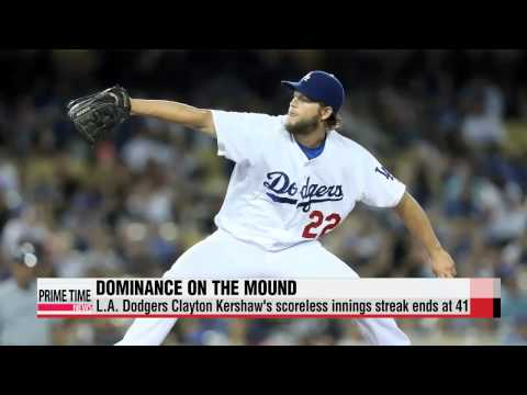 L.A. Dodgers Clayton Kershaw has streak end against Padres