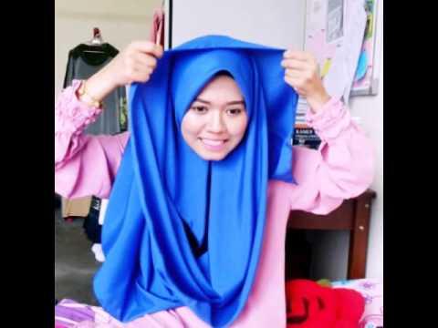 Tutorial shawl labuh gaya bawal by MIRAMELYNAA