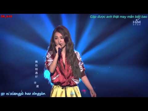 [Vietsub-Kara] May mắn bé nhỏ (live) - Hebe Tian (Our Times OST)