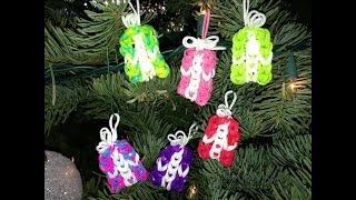 HOW TO MAKE RAINBOW LOOM PRESENT CHARM AND ORNAMENT