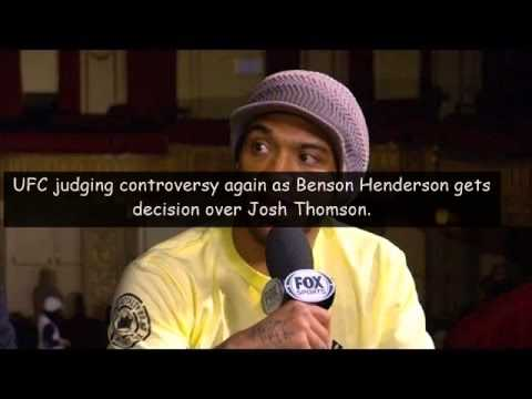 Benson Henderson stops Josh Thomson in UFC bout.