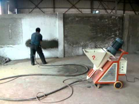 Maquina para hacer friso de cemento al pared 3