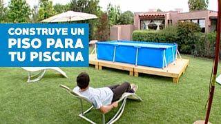 Construir un piso para la piscina de lona