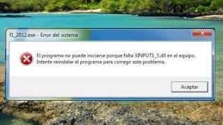 Solucionar Error XINPUT1_3.dll Todos Los Errores HD