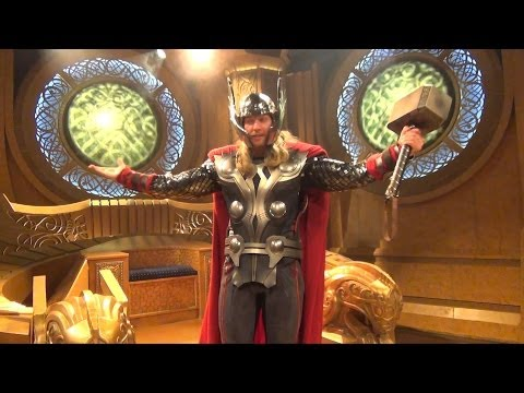 Thor Meet & Greet at Disneyland - Treasures of Asgard Throne Room in Innoventions