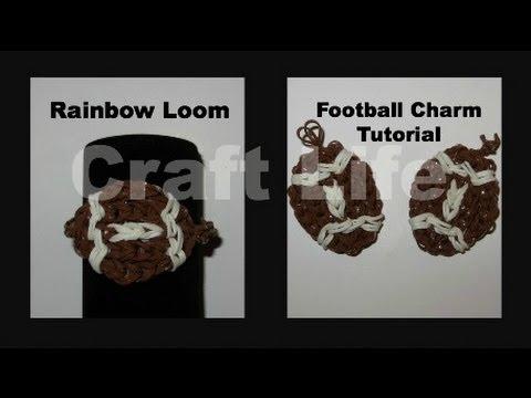 Craft Life Rainbow Loom Football Charm Tutorial Youtube