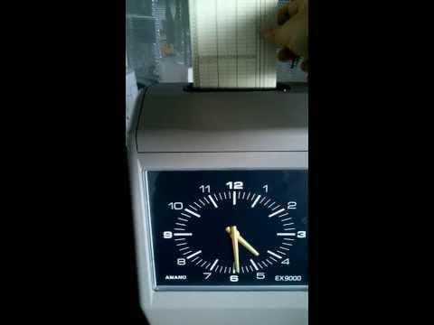 EX9000 Timbracartellino Marcatempo con scheda mensile una faccia gestione sirena e calcolo ritardi marcatura rosso