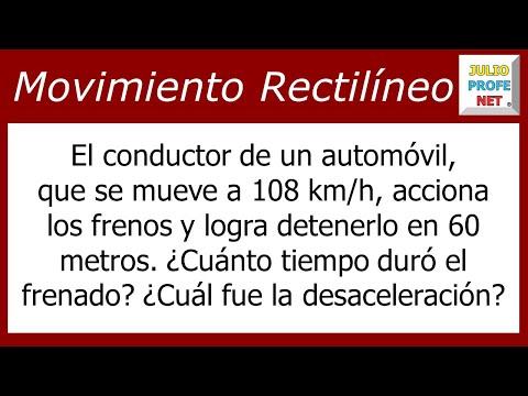 Movimiento Rectilíneo Uniformemente Desacelerado (Problema 1)