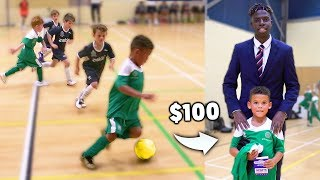 I Donated a Kid $100 Football Boots If His Team Wins a Soccer Match