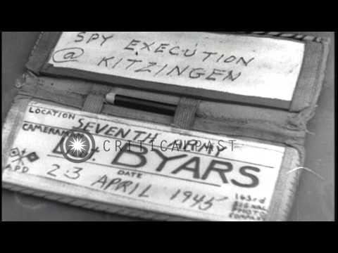 A German spy is executed by US Seventh Army in Kitzingen, Germany during World Wa...HD Stock Footage