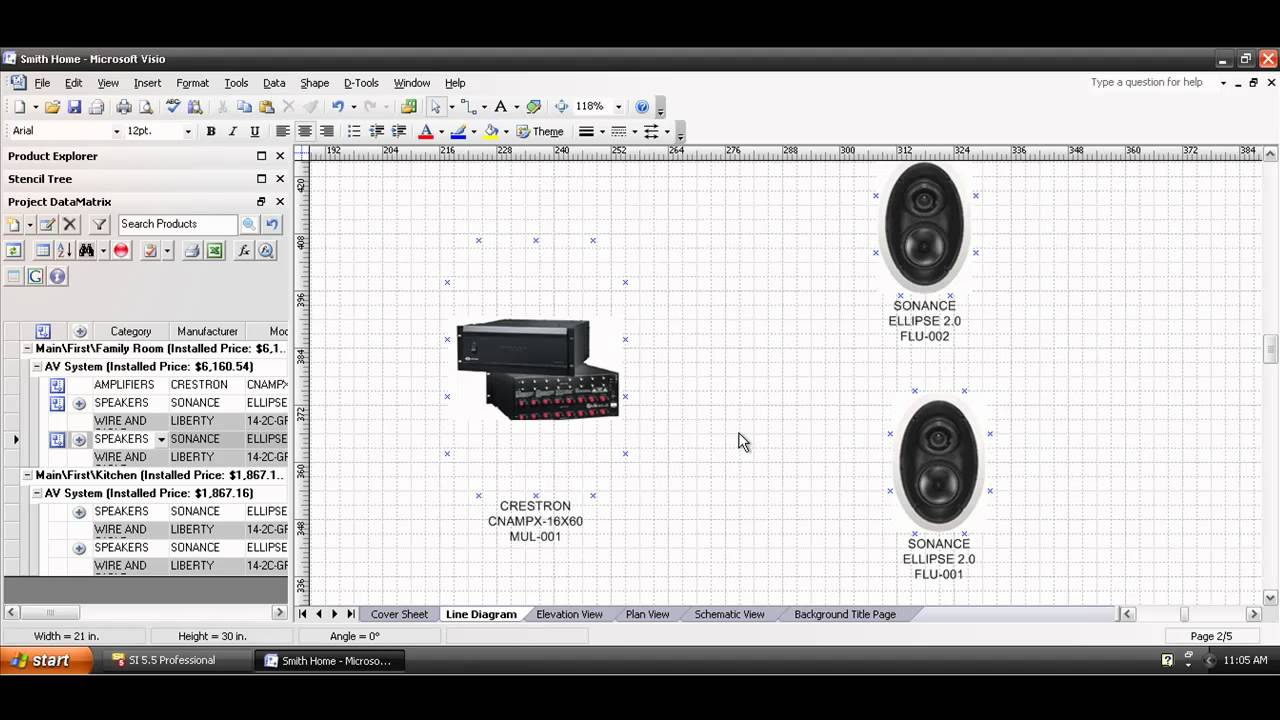 Drawing Lines In Visio : Creating a visio line drawing youtube