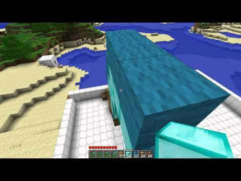 Minecraft: How To Make A Diamond Shovel Statue