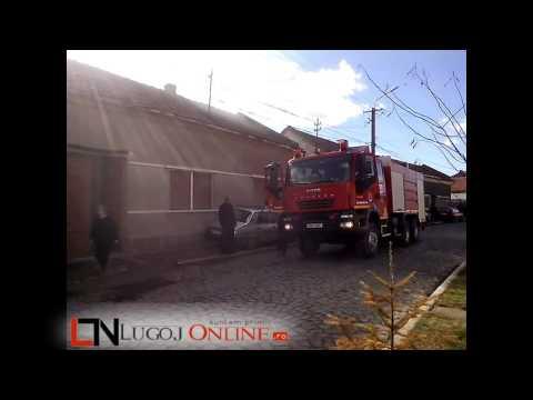 LugojOnline   Incendiu afumatoare str  Pandurilor 10 februarie 2014