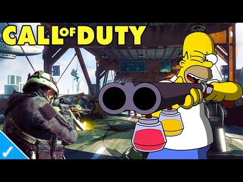 The Celeb Gamer - Homer Simpson plays Black Ops