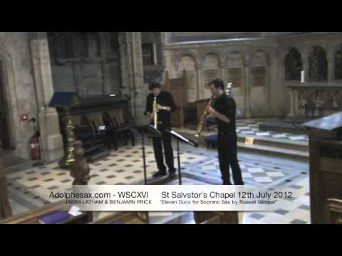 WSCXVI JABRA LATHAM & BENJAMIN PRICE   Eleven Dúos for Soprano Sax by Russell Gilmour