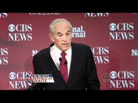 11-12-11 Ron Paul - CBS News Republican Debate