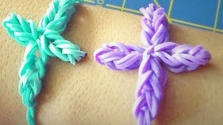 Big Cross Rubber Band Charm/Bracelet Without The Rainbow