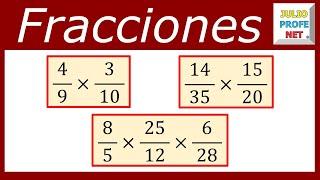 Multiplicación de fracciones