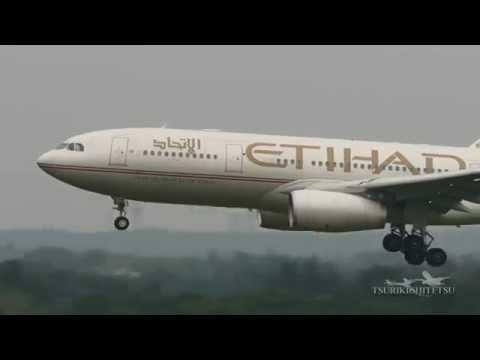 【4K】マロウド成田・Etihad Airways Airbus A330-200 Landing@Narita Airport Rwy 16R