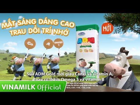 Quảng cáo Vinamilk - Sữa ADM GOLD MỚI 35s - MẮT SÁNG DÁNG CAO, TRAU DỒI TRÍ NHỚ