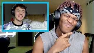 "Reacting to KSI reacting to my ""INSECURE"" DISS TRACK!"
