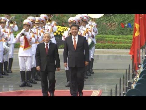 Chủ tịch Trung Quốc tới Việt Nam, biểu tình bị giải tán