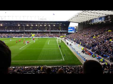 Baines penalty Everton v Man United - April 20th
