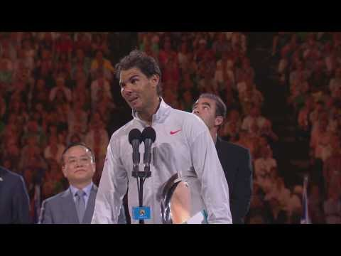 Rafa Nadal's post-final speech - 2014 Australian Open