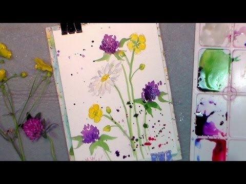 How To Paint Wildflowers In Watercolor Easy Tutorial Youtube