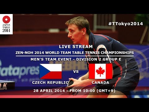 ZEN-NOH 2014 World Team Table Tennis Championships: Czech Republic - Canada