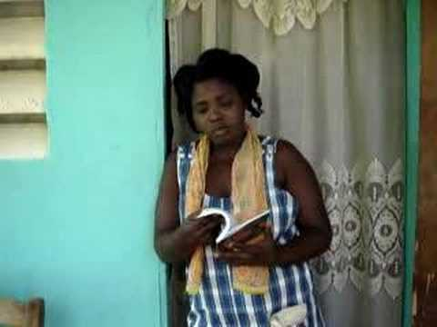 Woman Sings Jacmel Haiti Lovely 66
